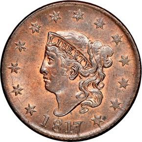 1817 1C MS obverse