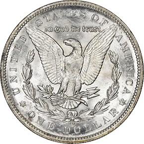 1891 O $1 MS reverse
