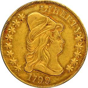 1799 LARGE STARS OBV $10 MS obverse