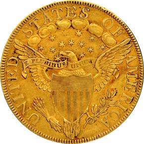 1799 LARGE STARS OBV $10 MS reverse