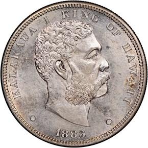 1883 HAWAII S$1 MS obverse