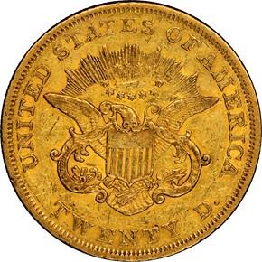 1850 $20 MS reverse