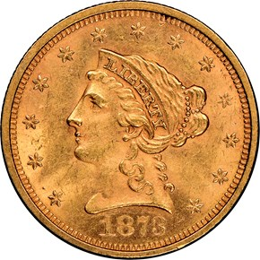 1873 OPEN 3 $2.5 MS obverse
