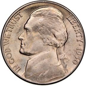 1950 D 5C MS obverse