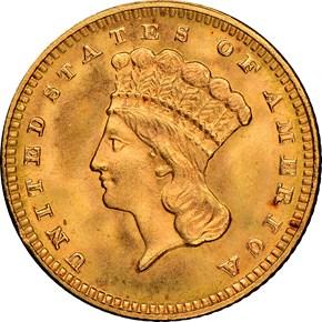 1889 G$1 MS obverse