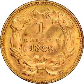 1889 G$1 MS reverse
