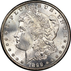 1899 $1 MS obverse