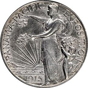 1915 S PANAMA-PACIFIC 50C MS obverse