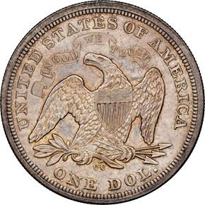 1870 CC $1 MS reverse