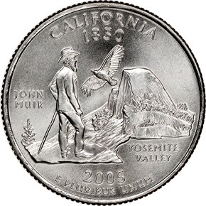 2005 P SMS CALIFORNIA 25C MS reverse