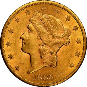 1885 CC $20 MS obverse