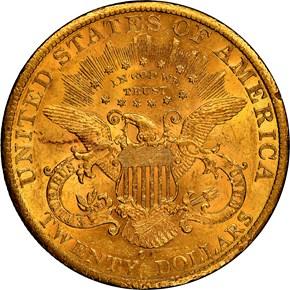 1885 CC $20 MS reverse