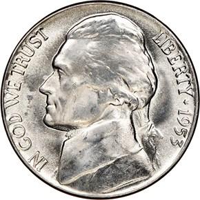 1953 5C MS obverse