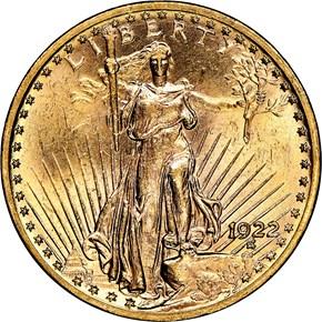 1922 $20 MS obverse