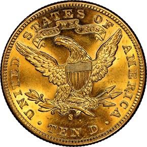 1899 S $10 MS reverse