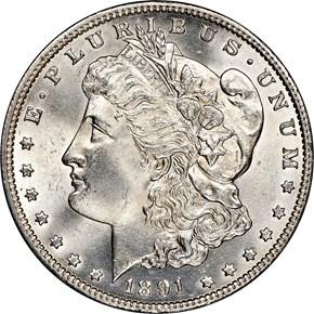 1891 CC $1 MS obverse