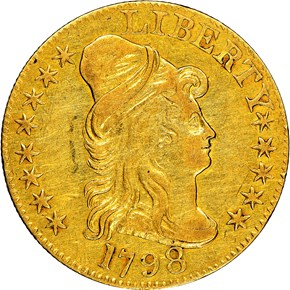 1798 SMALL EAGLE BD-1 $5 MS obverse