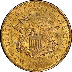 1856 $20 MS reverse