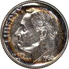 1962 10C PF obverse