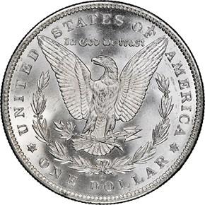 1889 O $1 MS reverse