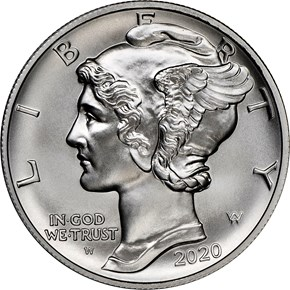2020 W Eagle High Relief Pd$25 MS obverse