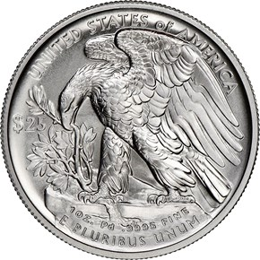 2020 W Eagle High Relief Pd$25 MS reverse