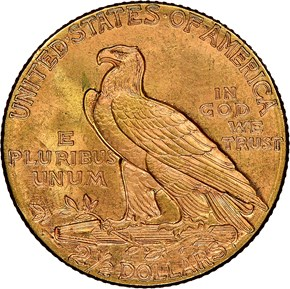 1925 D $2.5 MS reverse
