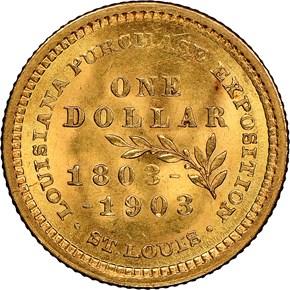 1903 JEFFERSON LOUISIANA PURCHASE G$1 MS reverse