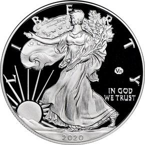 2020 W Eagle 'V75' S$1 PF obverse