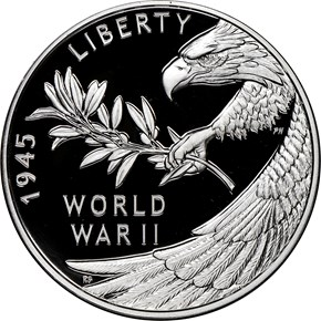 (2020)Silver End of WW2 75th Anniversary Medal PF reverse