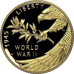 2020 W End of WW2 75th Anniversary G$25 PF reverse