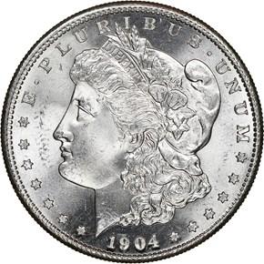 1904 S $1 MS obverse