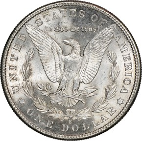 1904 S $1 MS reverse