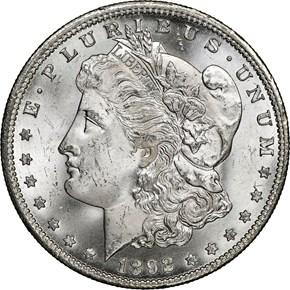 1892 CC $1 MS obverse