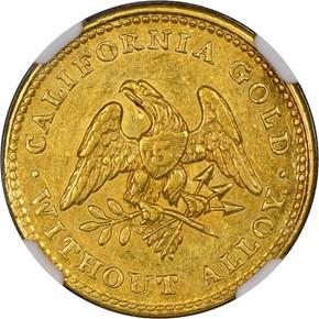1849 PLAIN EDGE NORRIS, GREGG & NORRIS $5 MS obverse
