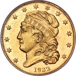 1832 13 STARS BD-1 $5 MS obverse