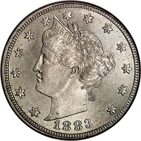 1883 CENTS 5C MS obverse