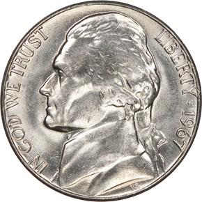 1967 5C MS obverse