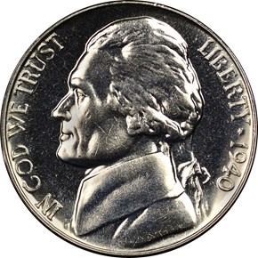 1940 REV OF 40 5C PF obverse