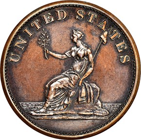 1783 PL EDGE COP RESTRK WASHINGTON & INDEPENDENCE reverse
