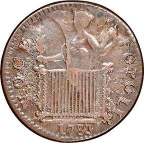 1783 GEORGIVS TRIUMPHO TOKEN MS reverse