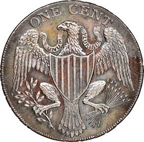 1791 LARGE EAGLE WASHINGTON PRESIDENT 1C MS reverse