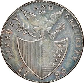 1795 L.E. 'LONDON' LIBERTY & SECURITY 1/2P MS reverse