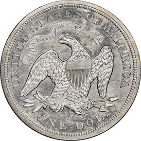 1873 CC $1 MS reverse