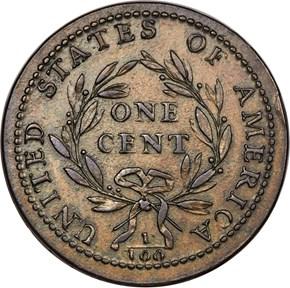 1793 LIBERTY CAP 1C MS reverse