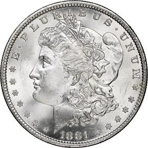1881 $1 MS obverse