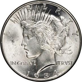 1934 $1 MS obverse