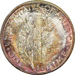 1944 10C MS reverse