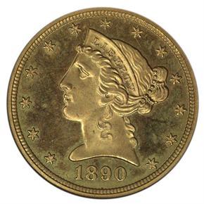 1890 $5 PF obverse