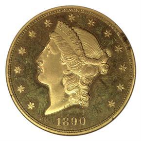 1890 $20 PF obverse